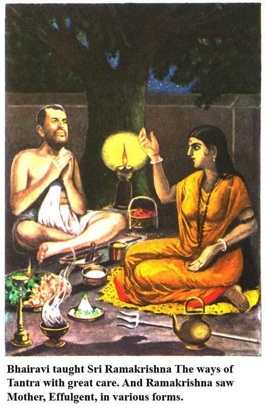 ramakrishna with bhairavi brahmani