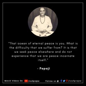 Papaji Best Quote